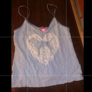 Victoria's Secret PINK tank in blue with heart